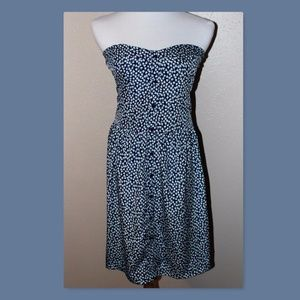 Gap Factory XXL Blue Floral Strapless Dress